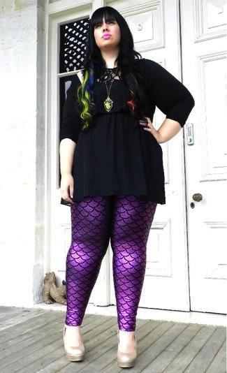 Mermaid Leggings Plus Size - Trendy Clothes